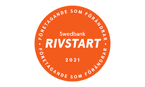 Rivstart logotyp orange